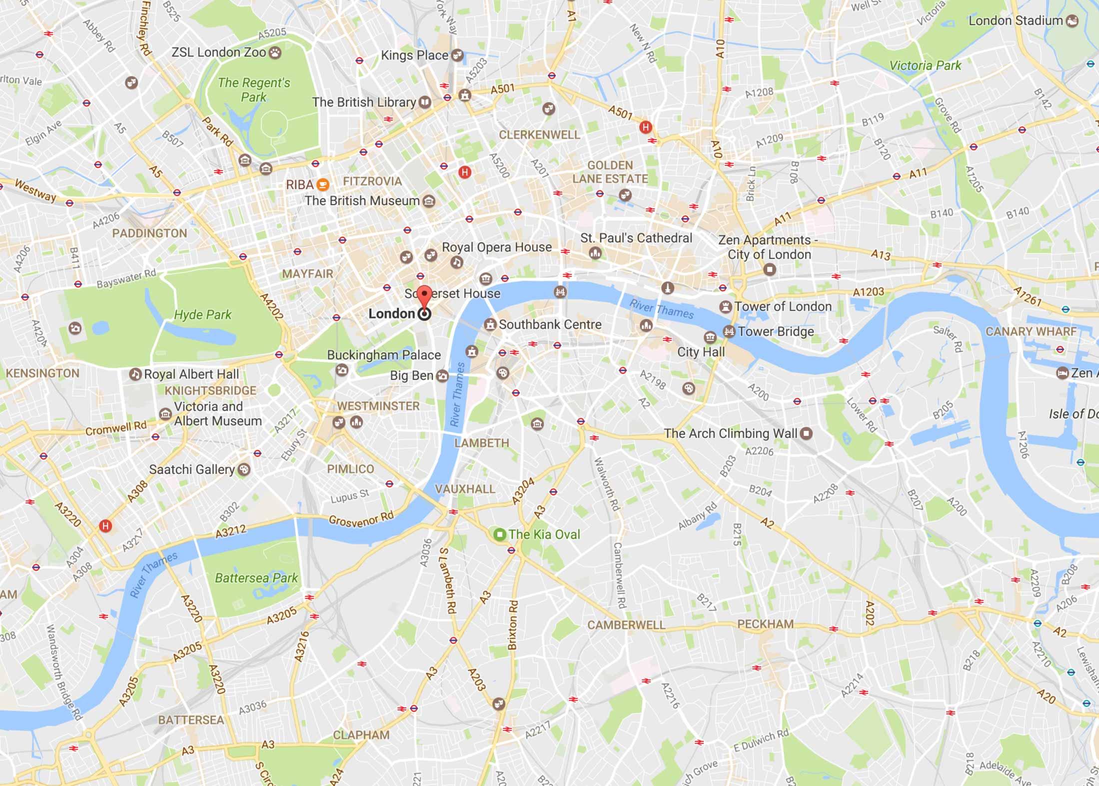 Zen Serviced Apartments london-map